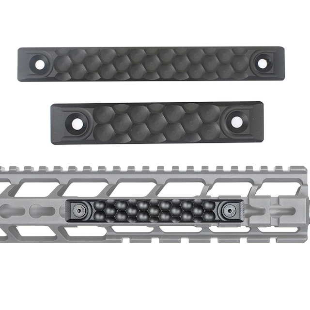 WADSN Airsoft RS CNC Aluminum Handguard Rail Cover Panel fit for Keymod M lok Rail System Picatinny Rails Hunting Accessory