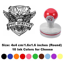 1 PCS Magic Owl Post Service Self-Inking Photosensitive Planner Scrapbooking Stamps