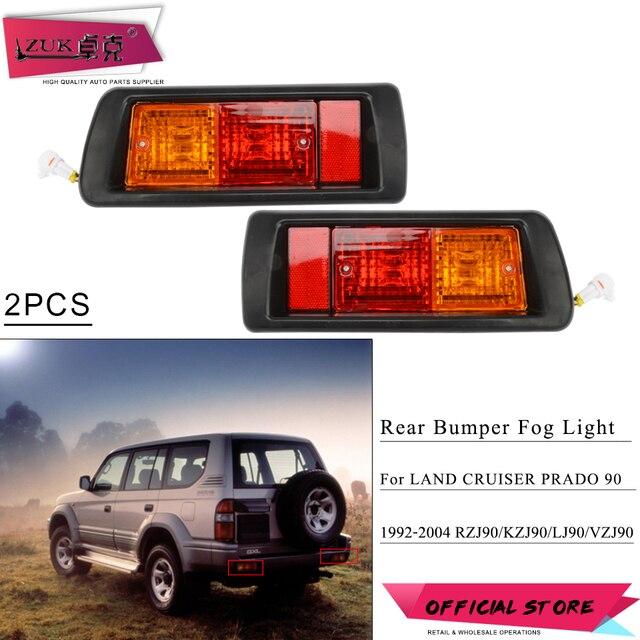ZUK-lampe réflecteur de brouillard pare-choc arrière | 2 pièces, pour LAND CRUISER PRADO 90 série 2700 3400 1992 1993 1994-1995 LC90 FJ90 FJ95