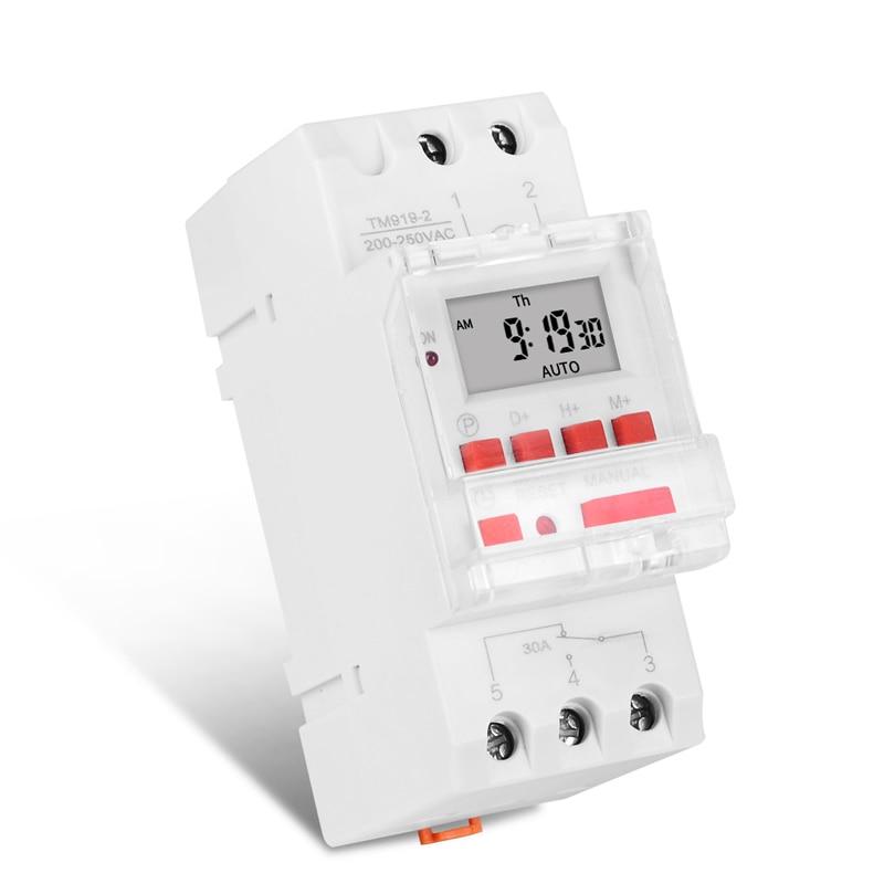 SovelyBoFan Digital LCD programmabile timer switch 16A AC 220-240 Bianco