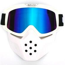 Nuevas gafas de casco de motocicleta Vintage, gafas de casco de Motocross, gafas Retro a prueba de viento, cascos de cara abierta, gafas de máscara para cascos de tiburón