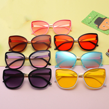 Children Sunglasses Pink Toddler Little Yellow Infantil Girls Oculos-De-Sol Cat-Eye Kids