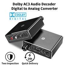 AYINO AC3 192KHz HiFi Audio Decoder DACพร้อมVolume Control Optical Coaxial RCA 3.5มม.ดิจิตอลอะแดปเตอร์แปลงDA500