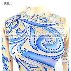 Image 3 - LIUHUO การแข่งขันสเก็ตผู้หญิงs ICE ชุดสเก็ต Roller สเก็ตแขนยาวผู้ใหญ่เด็ก StandcollarBlue