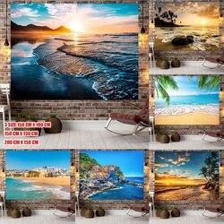 Многоузорный закат море пейзаж Морской фон Настенный декор Печать дома гобелены номер Декор для дома комнаты украшения 9 Размеры