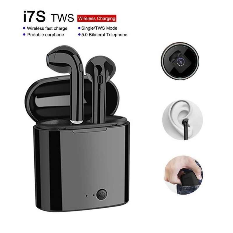RGLM I7s mini słuchawki Bluetooth tws słuchawki stereo zestaw słuchawkowy Bluetooth z ładowaniem Pod bezprzewodowe słuchawki z mikrofonem dla wszystkich smartfonów