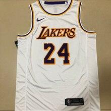 Sports NBA Los Angeles Lakers#24 Kobe Bryant Men's Basketball Jerseys Retro White Hot-Press Jersey