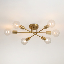 Nordic simple creative iron ceiling lights room master bedroom lamp home dining room living room LED lamp