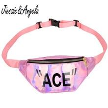 Jiessie&Angela Fashion Fanny Packs For Women Chest Bag Sport  Waist Waterproof Bum Woman