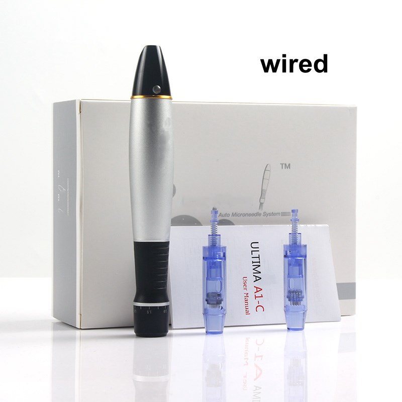 High Quality Wired Dr.Pen Ultima A1-C Microneedling Pen Mesotherapy Auto Micro Needle Machine With 2pcs Bayonet Cartridge