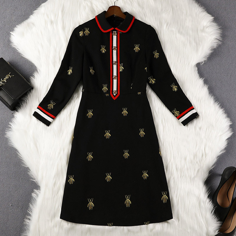 2019 Autumn Clothing New Style Chubby Sister Mm200 Pounds Large Size Dress Cover Belly Dress Tibetan Meat Western Style 10225