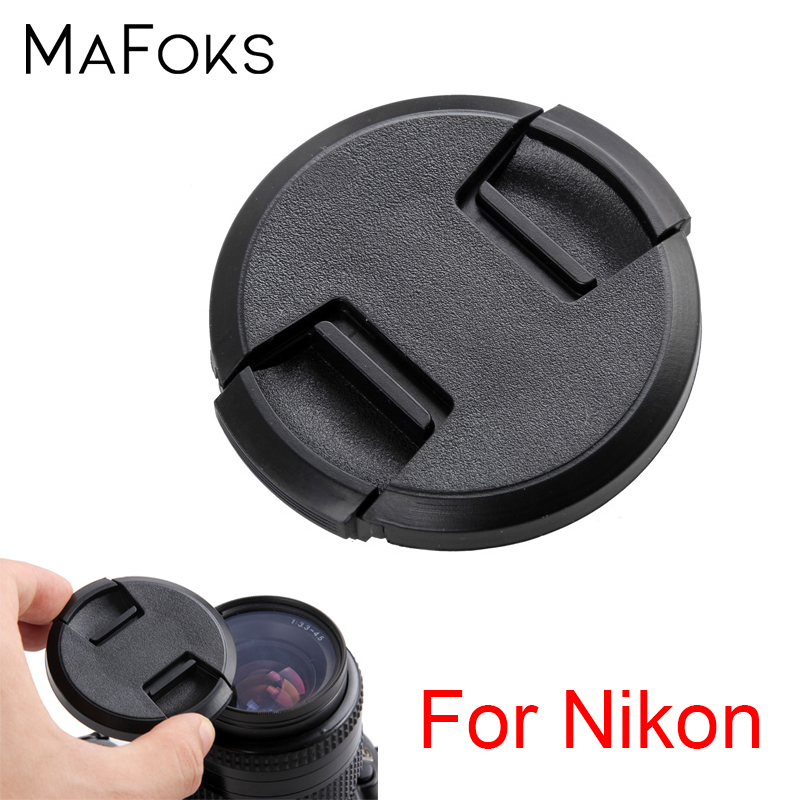 <font><b>Lens</b></font> <font><b>Cap</b></font> 49 52 55 58 62 <font><b>67</b></font> 72 77 82 mm Center Pinch Snap-on <font><b>Cap</b></font> Cover for Nikon <font><b>Lens</b></font> image