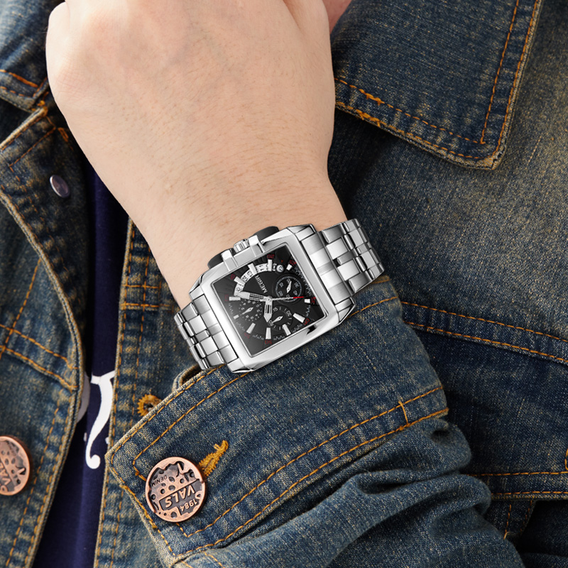 Image 5 - MEGIR Luxury Quartz Men Watch Stainless Steel Strap Top Brand Dress Business Watches Chronograph Wristwatches Relogio Masculinomasculinomasculinos relogiosmasculino watch -