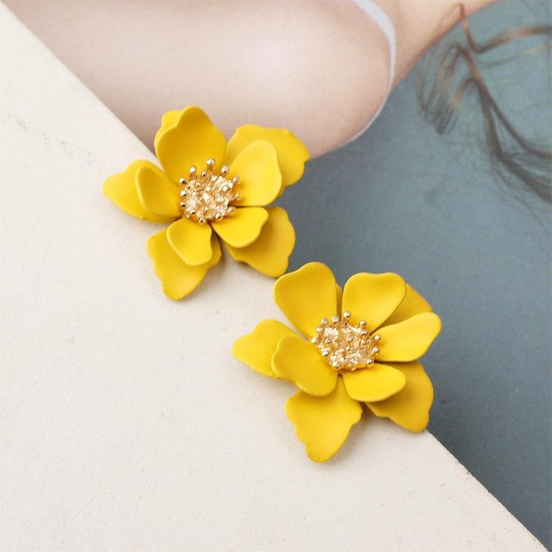 Drop Alloy Female Girls Flower Dangle Gift Fashion Elegant Trendy Sweet Jewelry Colorful Earrings Beautiful Earring Women
