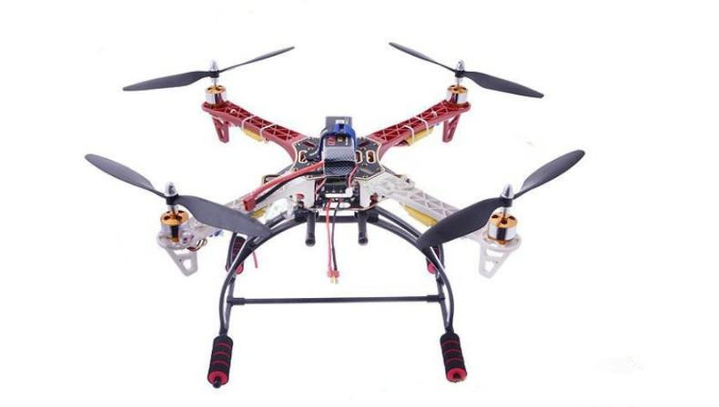 Four-axis Flight Set F450 Machine Bracket + Motor + Electrical Adjustment + QQ Flight Control Board + 3S Battery + Charger Unman