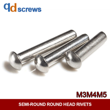 304 M2M2.5M3M4M5 stainless steel Round Head Rivets semi-round head solid rivet GB867