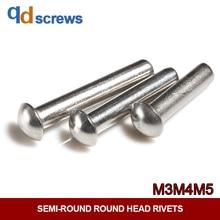 304 M2M2.5M3M4M5 stainless steel Round Head Rivets semi-round head solid rivet GB867 цена и фото
