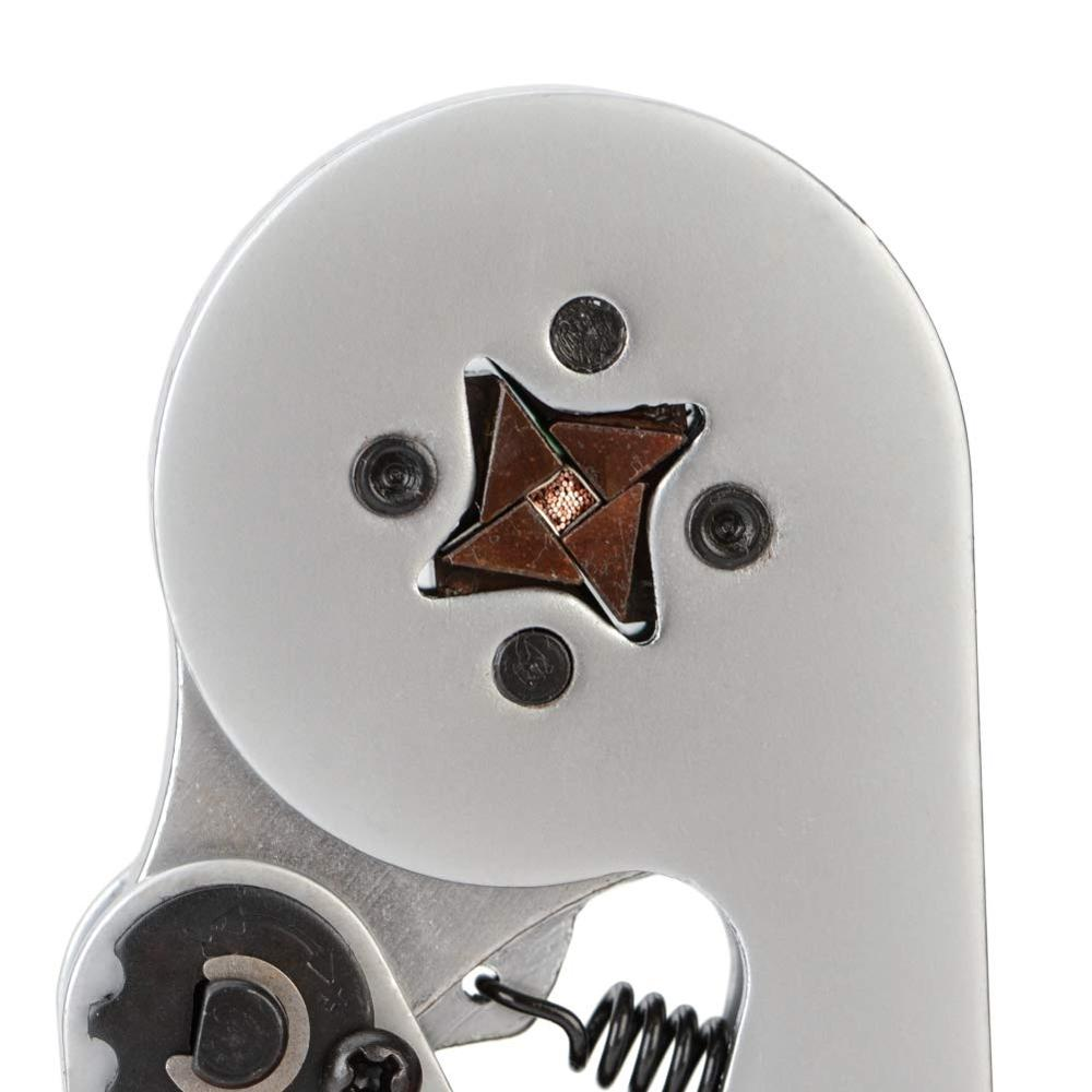 Tools : IWISS HSC8 6-4 Crimping Tool Kit Self-Adjustable Ratchet Ferrule Crimper Plier Set 1200 Pcs Wire Terminal Connectors Sleeves