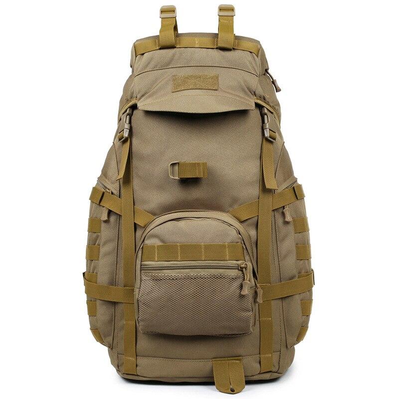 Sac à dos tactique 60L militaire 3P sac d'alpinisme tactique extérieur sac à dos de sport imperméable randonnée Camping sac de voyage
