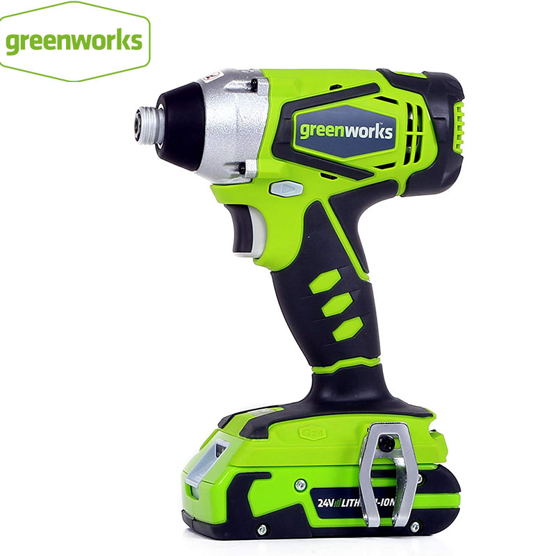 Greenworks 24V <font><b>Electric</b></font> <font><b>Impact</b></font> <font><b>Screwdriver</b></font> Brushless <font><b>Cordless</b></font> <font><b>Screwdriver</b></font> <font><b>Impact</b></font> <font><b>Drill</b></font> 300N.m Variable Speed Rechargeable <font><b>Drill</b></font> image