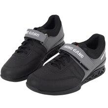 TaoBo Professionelle Gewichtheben Schuhe für Mann und Frauen Hocken Training Leder Anti Slip Beständig Gewicht hebe Schuhe Größe 36