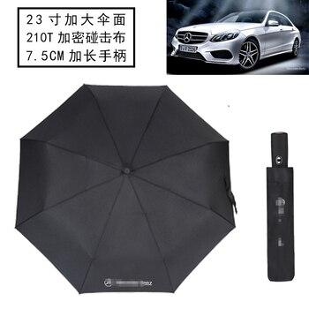 1 шт. высококачественный автоматический складной зонт 4S магазин BMW Mercedes-Benz с логотипом Мужской 8K Ветрозащитный Зонт аутентичный BMW