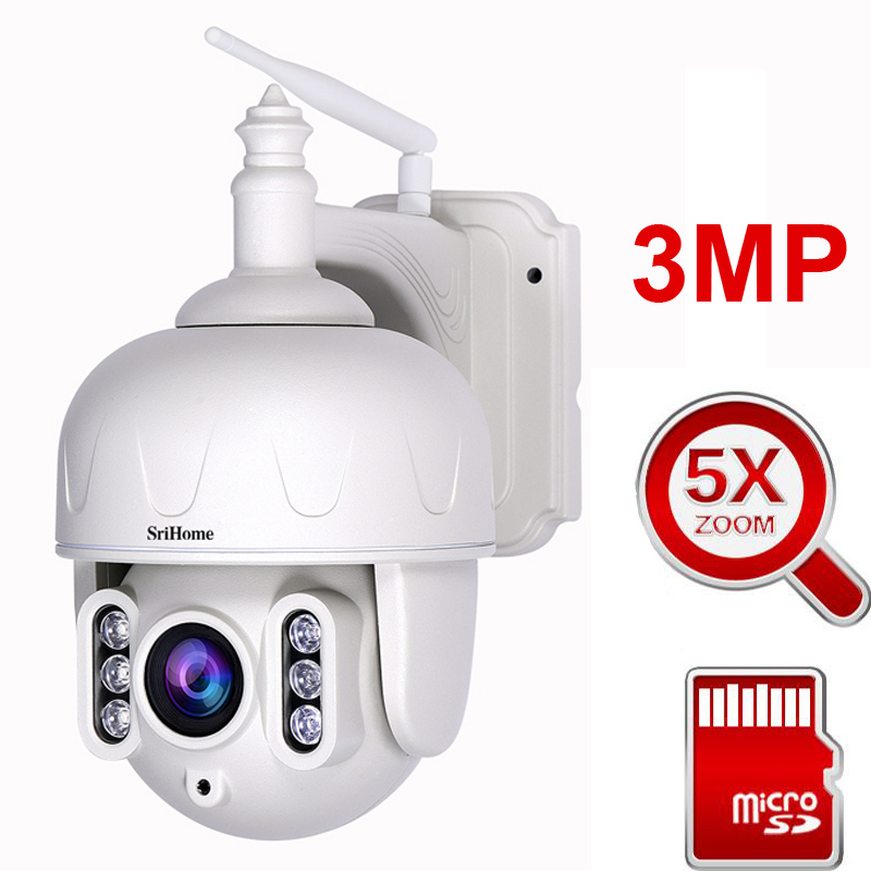 3MP PTZ WIFI IP Camera Super HD 5X Zoom Two Way Audio Wireless PTZ Cam Outdoor 40M IR Video Home Security Camera P2P image