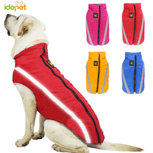 Waterproof Dog Clothes Winter Warm Big Jackets Fleece Pet Coat Cotton Jacket Safety Reflective Clothing 20