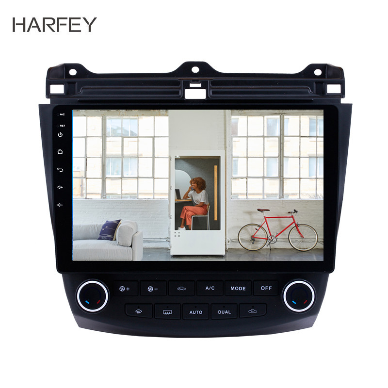 Harfey Android 9.0 10.1'' Car GPS Navigaition Radio for <font><b>Honda</b></font> <font><b>Accord</b></font> 7 <font><b>2003</b></font>-2007 <font><b>Stereo</b></font> Multimedia Player Touchscreen Head Unit image