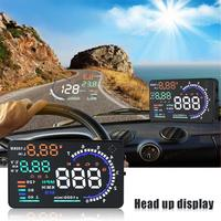 5.5 Inch Large Screen Car Head Up Display HUD with OBD2 Interface Plug and Play A8 Car HUD Display