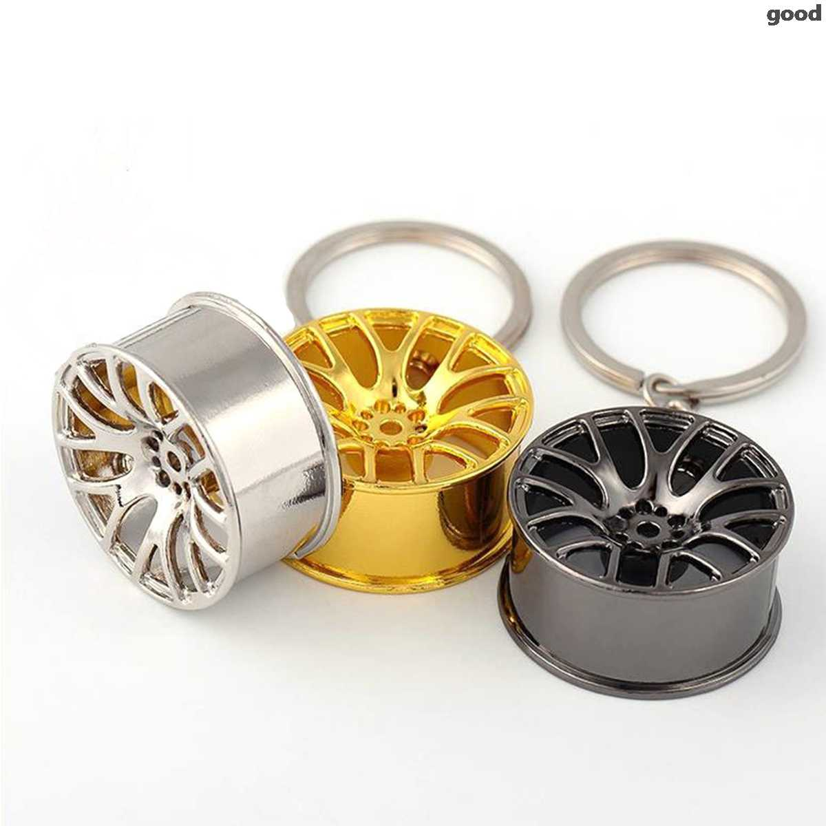 Roda de carro de metal aro modelo mini pneu chaveiro para renault bmw audi lada opel skoda mazda ford fiat assento volvo renault