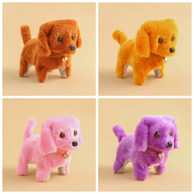 Cute Walking Barking Toy Funny Electric Short Floss Electric Moving Dog Children Kids Toys High Quality
