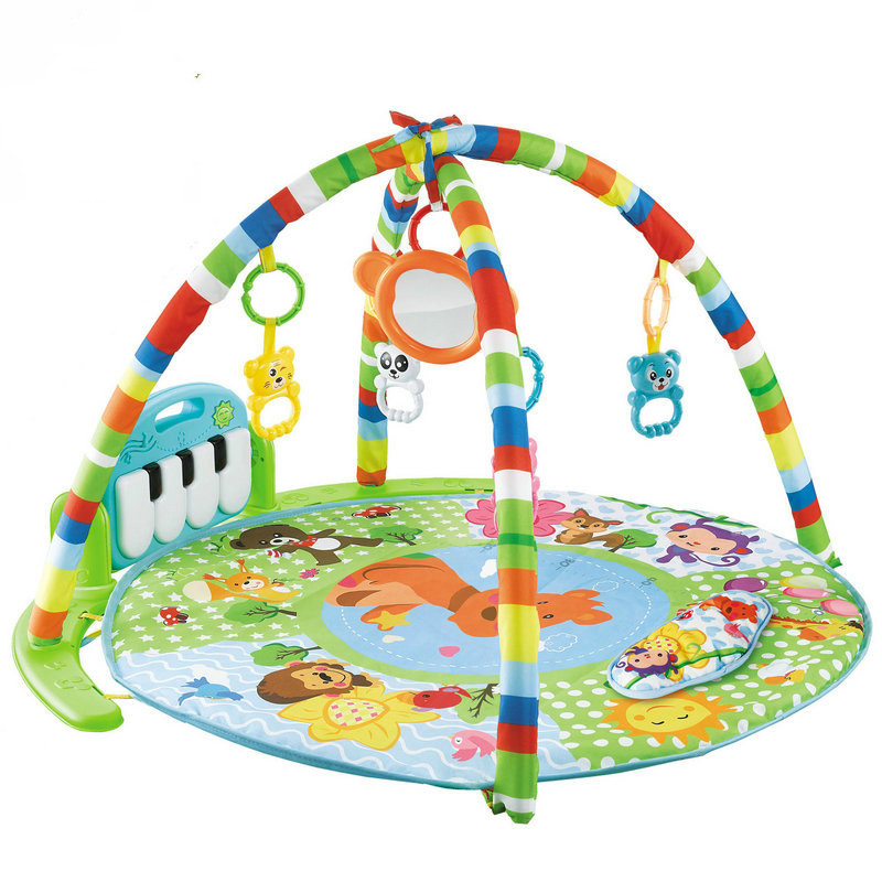 Baby Activity Gym Baby Music Rack Play Mat Kid Rug Puzzle Carpet Piano Keyboard Infant Playmat Early Education Gym Crawling