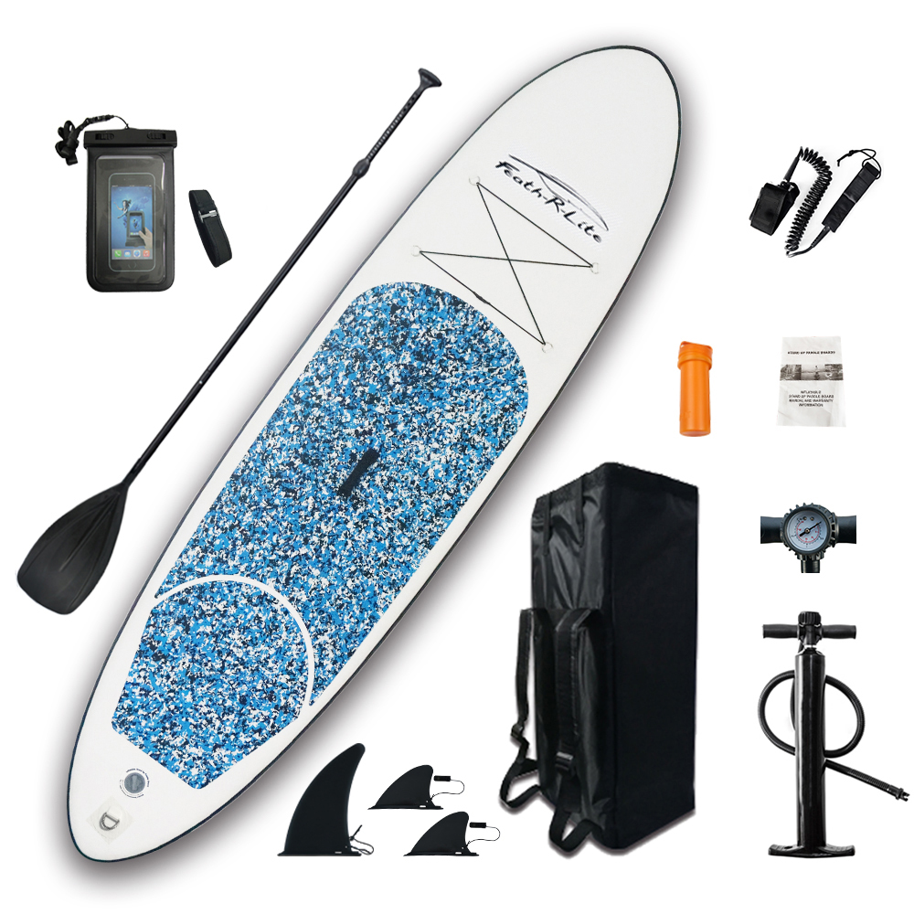 Inflatable Stand Up Paddle Board Sup-Board Surfboard Kayak Surf Set 10'x30''x4''with Backpack,leash,pump,waterproof Bag