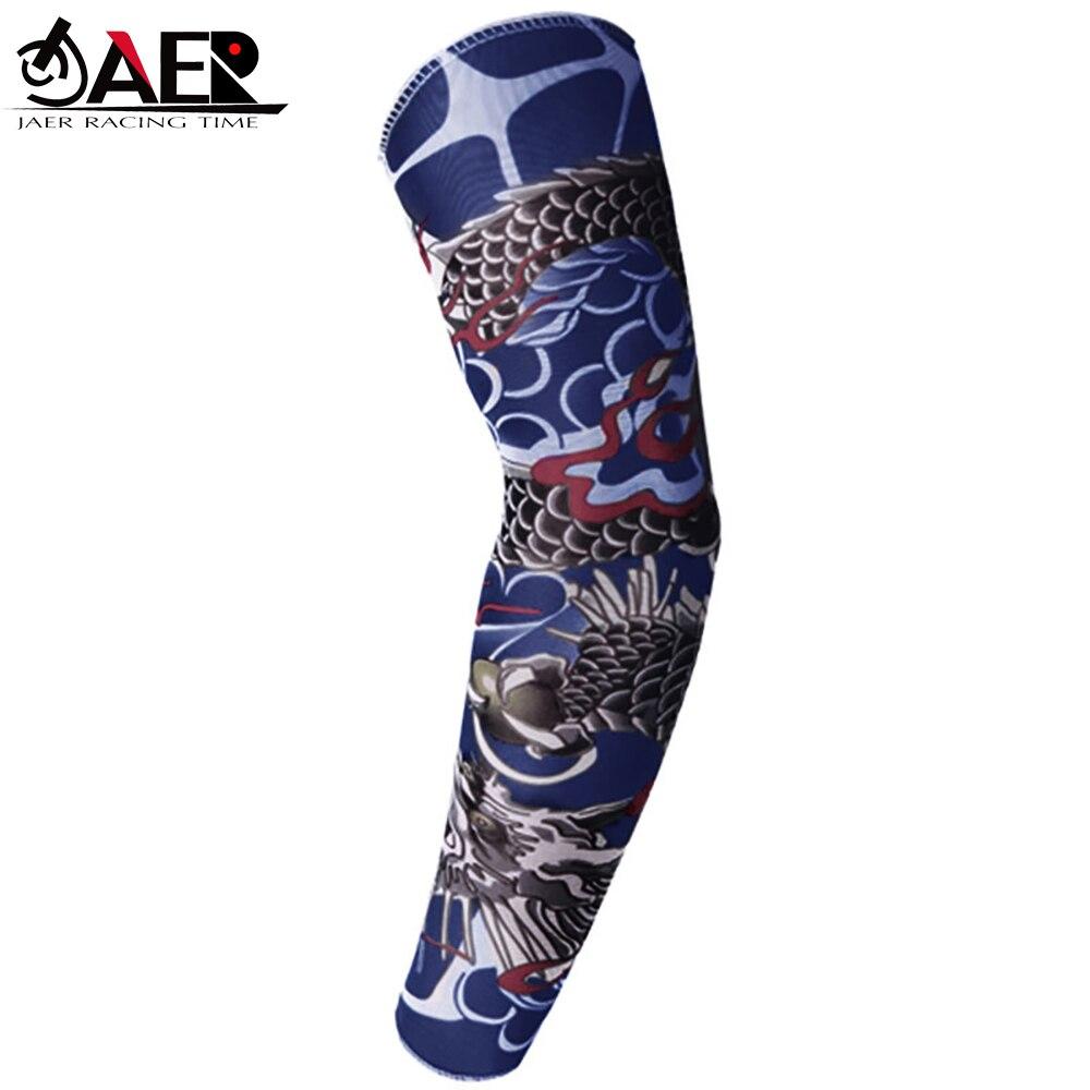 JAER 1x Motorcycle Arm Sleeve UV Protection 20+ 3D Printed Armwarmer MTB Bike Bicycle Sleeves Arm Warmer Golf Arm Sleeves