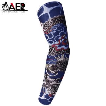 JAER 1x rękaw motocyklowy rękaw ochrona UV 20 + 3D drukowane Armwarmer MTB rower rękawy ramię cieplej golf z rękawem tanie i dobre opinie JGAYLAER JAER RACING TIME Tuleja ramienia Mężczyźni Kobiety Unisex Nylon JR-SE-WS157 1piece x Temporary Tattoo Sleeve