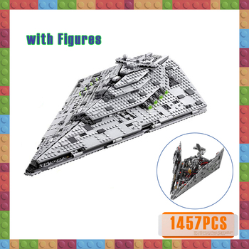 1457pcs Compatible 75190 First Order Star Destroyer Star War Costruzion Model Starwars Building Blocks with Figures Bricks Toys new starwars destroyer cruise ship star plan the empire over jedha city building blocks bricks toys for christmas gift 05027