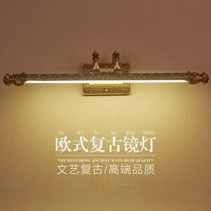 Image 3 - Iluminação de parede europeia, lâmpada para espelho de armário, banheiro americano, à prova dágua, farol retrô