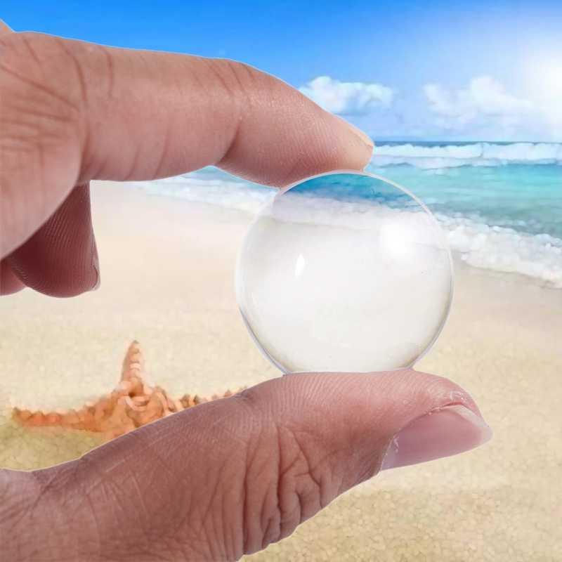 אסיה קוורץ שקוף טבעי קריסטל ריפוי כדור כדור 1pcs