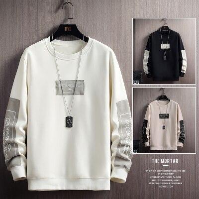 Herbst Männer Casual Sweatshirts Harajuku Gedruckt Männer Langarm Hoodies 2020 Koreanische Mann Lose Pullover Homme Frühling Tragen