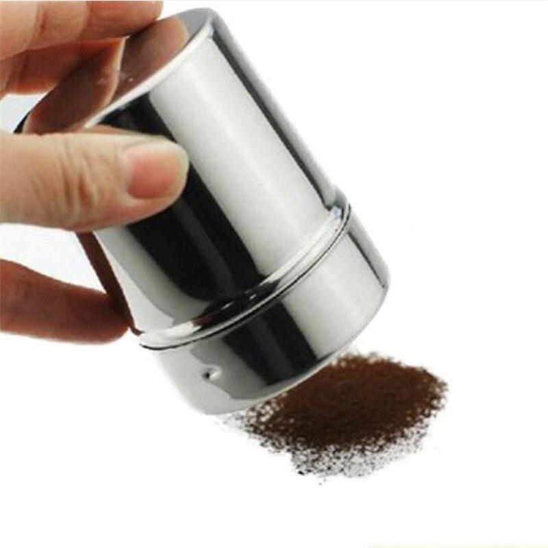 2021 New 1Pc Stainless Steel Sprinkle Cocoa Cinnamon Sugar Gauze Mesh Jar Seasoning Bottle Fancy Coffee Powder Duster milk mold