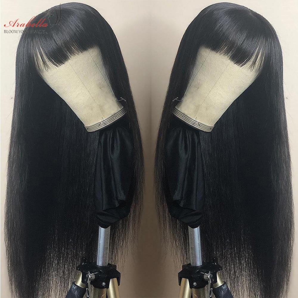 Glueless  Wigs With Bangs Arabella Hair  Straight Hair Wigs Silky Wig Full Machine Made Fringe Wig 2