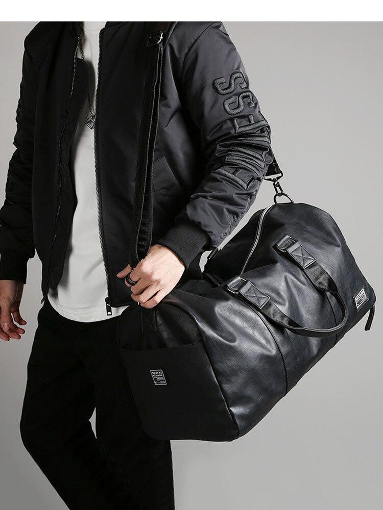 Handbag-Bag Storage Luggage-Shoulder-Bag Duffle Travel-Bag Independent-Shoes Black Large