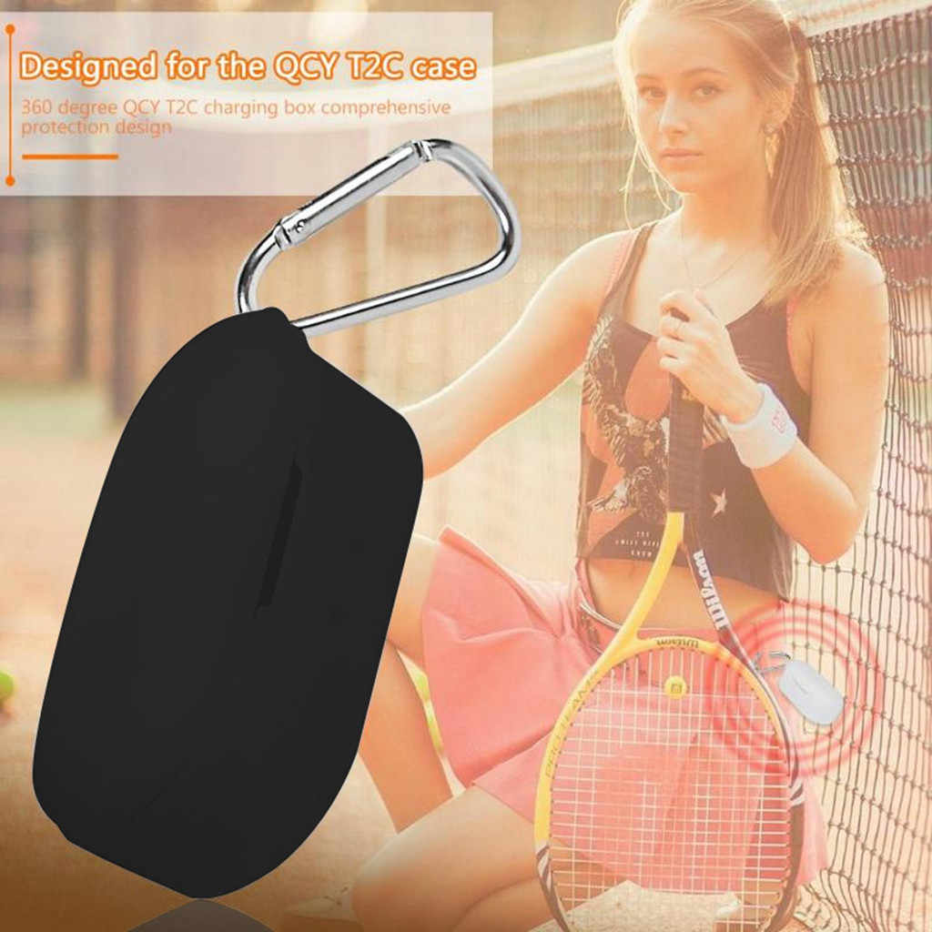 Para T2C QCY/T2S impermeable inalámbrico Bluetooth auricular silicona cubierta protectora