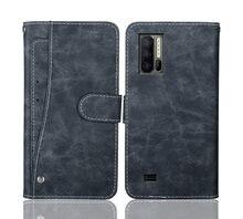 Ulefone Armor 7 – étui portefeuille de luxe en cuir à rabat Vintage, 6.3 pouces, étui pour téléphone, sac d'affaires, housse de protection avec fentes pour cartes avant