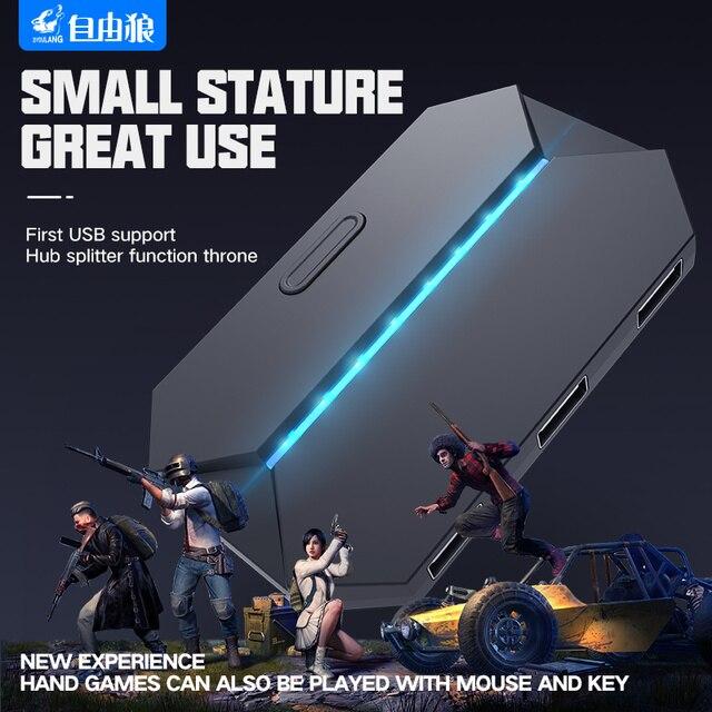 Yeni G6 klavye ve fare adaptörü Gamepad denetleyici dönüştürücü PS4 PS3 Xbox One Nintendo anahtarı oyun aksesuarları