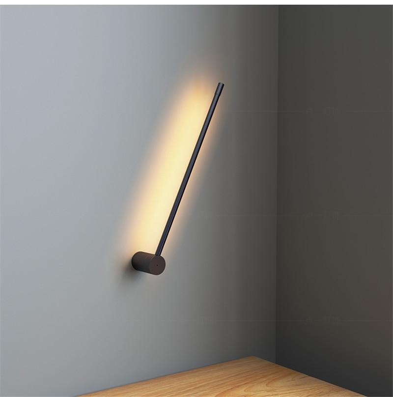 Nordic moderno metal lâmpada de parede minimalista