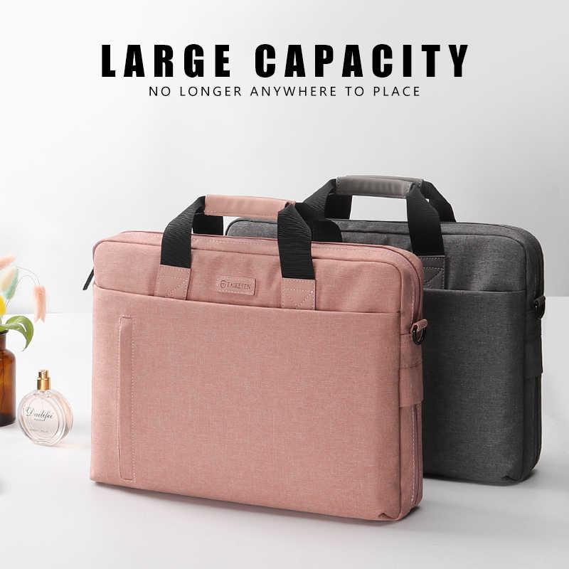 حقيبة كمبيوتر محمول 13.3 14 15.6 17.3 بوصة مقاوم للماء حقيبة دفتر لماك بوك اير برو 13 15 الكمبيوتر حقيبة الكتف حقيبة حقيبة