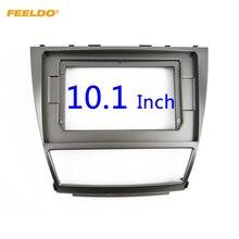 """Feeldo estéreo de áudio do carro 2din fascia quadro adaptador para toyota camry 10.1 """"tela grande dvd player traço montagem painel quadro kit"""