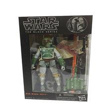 Figuras de acción de la serie negra de Star Wars 9 para niños, Darth Vader, Kylo Ren, Baby Yoda, Boba Fett, 6 pulgadas, juguete de película